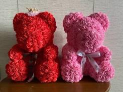 Мишки из роз.