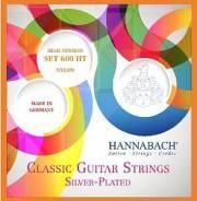 Комплект струн для классической гитары, сильное натяжение, Hannabach 600HT Silver-Plated Orange