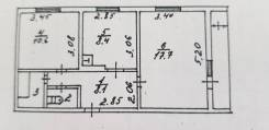 2-комнатная, улица Селедцова 17. центр города, частное лицо, 48,9кв.м. План квартиры