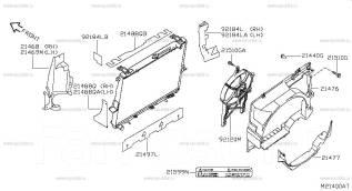 Радиатор охлаждения двигателя. Nissan Pathfinder Nissan Armada, TA60 Nissan Titan, A60 Infiniti QX56, JA60 VK56DE. Под заказ