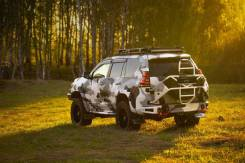 Бампер силовой задний BMS ALFA для Тойота Прадо 150 2009-2020