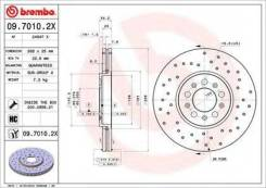 Brembo 09.7010.2X Диск тормозной Xtra | перед |