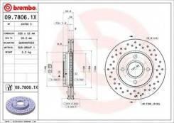 Brembo 09.7806.1X Диск тормозной Xtra | перед |