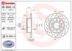 Brembo 08.9502.1X Диск тормозной Xtra | зад |