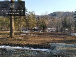 Земля в поселке с вековыми кедрами на берегу Черной речки. 841кв.м., собственность, электричество, вода. Фото участка