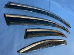Honda Civic 2005-2011 Дефлекторы окон с хромированным молдингом Металл