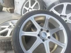 Отличный комплект литых дисков BEO на шинах 225/45R18 Dunlop
