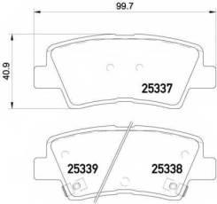Колодки дисковые з.! KIA Soul 1.6i/CRDi 09, Hyundai Sonata V 2.0Ti/CRDi 05 Textar 2533701 2533701_ 2533701