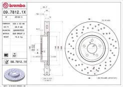 Диск тормозной передний перфорированный Brembo 0978121X