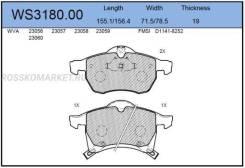 Колодки тормозные дисковые   перед   Jeenice 'WS318000