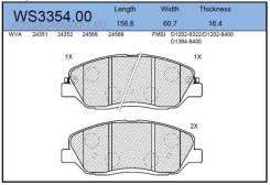 Колодки тормозные дисковые   перед   Jeenice 'WS335400 WS335400