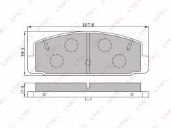 Колодки тормозные задние Mazda 323 01-04/626 2.0 97-02/Premacy 99> BD-5104