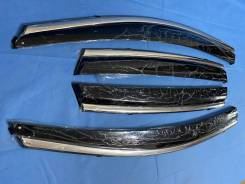 Honda CR-V 2012 - 2016 Дефлекторы окон с нерж. молдингом + крепление