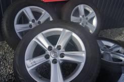 Оригинальные литые диски Toyota на шинах Bridgestone 215/60R16