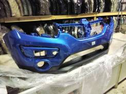 Бампер передний Renault Sandero Stepway 14- голубой rpl