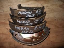Колодки тормозные барабанные Nissan March/Note AK12/E11 комплект AY360NS089