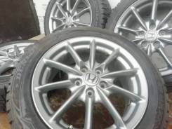 Оригинальные 17-е диски Honda на зиме 215/55R17 Dunlop. БП по РФ