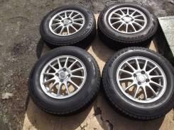 185/70 R14 Bridgestone VRX2 2017г на литье 4*100 Eco Forme
