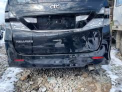 Бампер черный (202) задний Toyota Vellfire ANH20 95000km