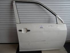 Дверь Toyota Probox правая передняя белая голая №13