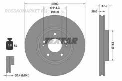 Диск тормозной с покрытием PRO | перед | Textar '92166503 92166503