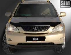 Дефлектор капота черный для Lexus RX (2003-2009) / Toyota Harrier (2003-2013)