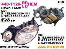 440-1126R-Ldhem Depo Фара Фара R ( D2S ксенон)/Mercedes W211 02-05