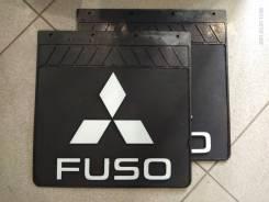 Брызговики FUSO Расстояние между отверстиями:110mm резина Объёмный логотип (комплект 2 штуки) 400*400*7mm