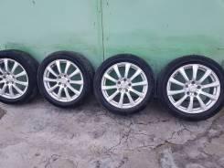 Колеса 225/50/17 диски WEDS Joker 5х114.3 вылет 40 жирные шины