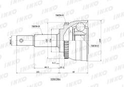 Шрус наружный X-Ttrail 00-, Cefiro A33 98-02 ABS, INKO