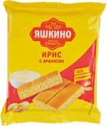 Ирис Яшкино со сливочным вкусом и дробленым арахисом, 140 гр.