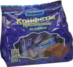 Конфеты Петродиет пралиновые на сорбите, 200 гр.