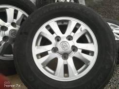 Фирменные литые диски Toyota на шинах Dunlop 275/65R17