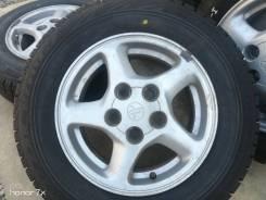 Оригинальные литые диски Toyota на шинах Bridgestone 185/70R14