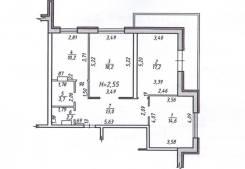 3-комнатная, улица Морозова Павла Леонтьевича 92. Индустриальный, агентство, 80,0кв.м.