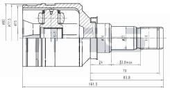 ШРУС Внутренний LH / RH Корея Corolla EL4# / NZE121 / NZT240 JCN0168