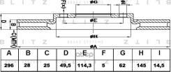 Диск Тормозной Toyota Rav4 05- Blitz арт. BS0332