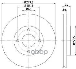 Диск Тормозной Nissan Tiida/Cube 07- Перед. 280 Мм Nisshinbo арт. ND2036K