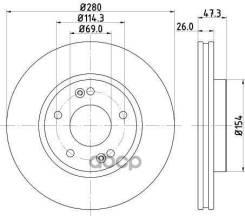 Диск Тормозной | Перед | Nisshinbo арт. ND6037 ND6037