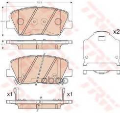 Колодки Тормозные Дисковые Hyundai: Elantra 1.6/1.8 11-, Veloster 1.6 Gdi 11- Kia: Sorento Ii 2.4 Cvvt/2.4 Cvvt 4wd 09- TRW арт. GDB3549 GDB3549