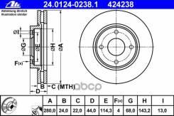 Диск Тормозной Nissan Tiida 07- Перед. Вент. (Мин. 2 Шт. ) Ate арт. 24012402381