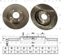 Диск Тормозной Передний Вентилируемый BS0218
