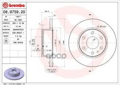 Диск Тормозной Iveco Daily 06- Задний D=296мм. С Абс Brembo арт. 08975920