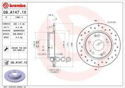 Диск Тормозной Honda Civic 06- Задн. (С Перфорацией) D=260 Brembo арт. 08A1471X