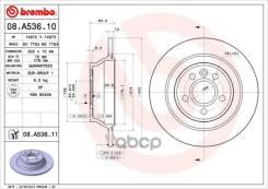 Диск Тормозной Volvo S80/V70/Xc70 06- Без Эл. Стоян. Тормоза Задн. D=302 Brembo арт. 08A53611