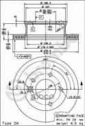 Диск Тормозной Mb/Vw Sprinter/Lt -06 Перед. Вент. Brembo арт. 09731424