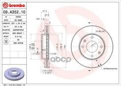 Диск Тормозной Передний! Hyunday Sonata All 00-01 Brembo арт. 09A35210 09. A352.10_