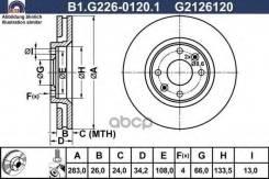 Диск Торм. Пер. Вент. [283x26] 4 Отв. Citroen C3 1.4/1.6/16v/Hdi 02/02-/C4 1.4-2.0/16v/Hdi 11/04-/C5 1.6-2.0/Hd Galfer арт. B1-G226-0120-1 B1G22601201