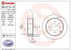 Диск Торм. Зад. Hyundai Matrix Fc 06/01-08/10 Brembo арт. 08. A114.11 08A11411