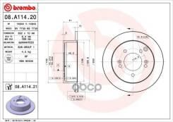 Диск Тормозной Задн. С Уф Покрытием Hyundai Sonata V (Nf) 12/04-11/12 / Hyundai Tucson (Jm) 08/04- Brembo арт. 08.a114.21